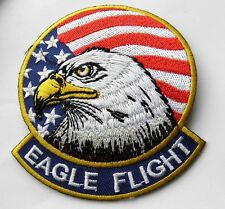 New listing Eagle Flight Usa Us Flag United States Embroidered Patch 3.4 Inches