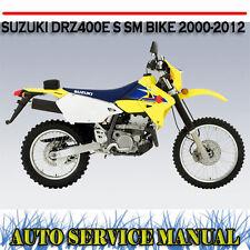 SUZUKI DR-Z400 DRZ400E S SM BIKE 2000-2012 WORKSHOP SERVICE REPAIR MANUAL ~ DVD