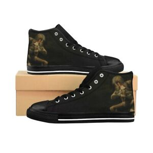 Men's High-top Sneakers - Saturn Devouring His Son, Francisco Goya