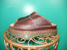 Vintage 90'S Dr. Doc Martens Brown Oiled Leather Sandals Slides Shoes 7