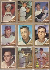 1962 62 Topps YOU PICK SINGLES FROM #1-598 ALL HIGH GRADE NEAR MINT OR BETTER