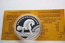 Weißrussland 20 Rubel 2009 Straw Plaiting Stroh flechten Silber Belarus Rubles