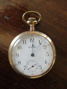 Vintage WALTHAM Gold-plated Pocket Watch, Not Running