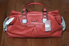NWT Coach F15447 Ashley Large Leather Satche Handbag Purse Red