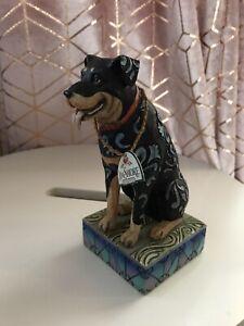 "Enesco Jim Shore Heartwood Creek ""Roddie"" a Rottweiler Item 4009744 Ornament"