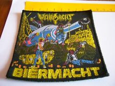 WEHRMACHT – very rare old original 80s BIERMACHT Patch!!!  Many years old, very