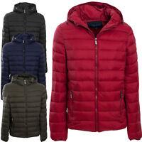 Piumino uomo cappuccio giubbotto giacca daily jacket zip giaccone casual FD80122