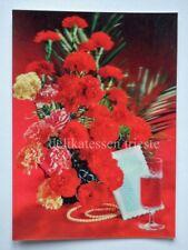 LENTICULAR 3D Japan TOPPAN vintage post card CARNATION GAROFANO FIORI FLOWERS *