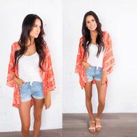 NEW Women Fashion Chiffon Shawl Kimono Cardigan Tops Cover Up Blouse Beachwear