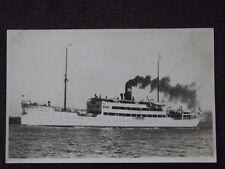 WW2  S.S. NORDLAND R.C.G  GERMAN TROOP SHIP  VTG  REAL PHOTO POSTCARD