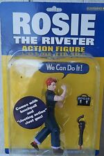"NEW ROSIE THE RIVETER E 5."" ACTION FIGURE IN PACKAGE"
