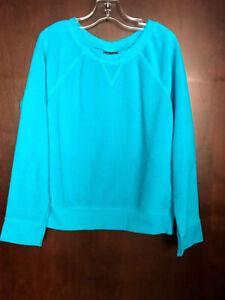 Faded Glory Girl's Blue Teal Long Sleeve Sweatshirt Size M 7-8