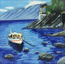 """Amarré bateau céramique carrelage salle de Bain Photo Bord de mer plaque murale 8x8 """" 05202"""