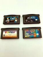 Game Boy Advance GBA Game Lot of 4: Tetris Worlds, Sims Bustin Out, Snood, Atari
