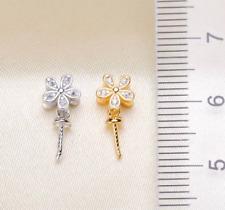 265-KP 4-6 x 15-20mm NaturalSeaweed Pink Keishi LongStick FreshwaterPearl Beads