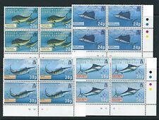 BRITISH INDIAN OCEAN TERRITORY BIOT 1995 GAME FISH (Sc 168-71) plate blocks MNH