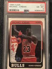 1988 Fleer Basketball MICHAEL JORDAN #17 PSA EX-MT 6