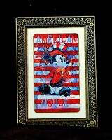 Disneyland MICKEY AMERICAN MOUSE EASEL PIN - Retired Disney Pins
