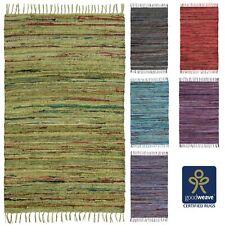 Fair Trade 60x90 75x120 Cotton Chindi Rag Rugs Green Grey Mauve Purple Pink Blue