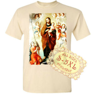 Saint Joseph with baby Jesus V12 Catolic Church DTG T SHIRT All sizes S-5XL