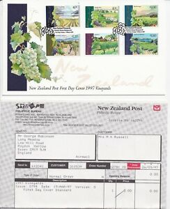 New Zealand 1997 FDC Vineyards set stamps First Day Cover