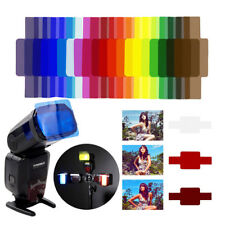 20pcs Flash Speedlite Color Gel Filters for Canon Nikon Sony Yongnuo DSLR Great