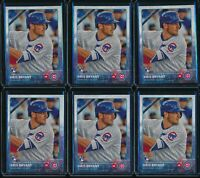2015 Topps Series 1 Kris Bryant RC 6 Card Lot Rookie #616 Chicago Cubs