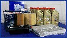 KIT 5 FILTRI TAGLIANDO SERVICE BOSCH AUDI A6 3.0 TDI + OLIO MOTORE CASTROL EDGE
