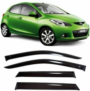 For Mazda 2 II Hb 2008-2014 Window Side Visors Sun Rain Guard Vent Deflectors