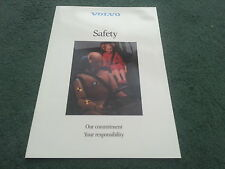 """1986 / 1987 VOLVO UK SAFETY """"OUR COMMITMENT"""" 16 PAGE BROCHURE - 240 740 760"""