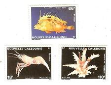 NOUVELLE CALEDONIE TIMBRES  N° 576 A 78  NEUF ** POISSONS