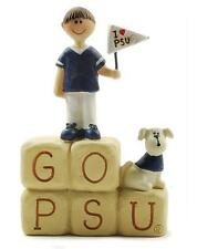 Penn State University GO PSU word Block with Cheerleader & Puppy~So Cute!~~