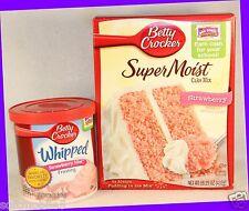 Betty Crocker Super Moist STRAWBERRY MIST Cake Mix & Whipped Frosting Set