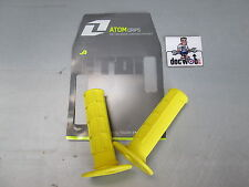 One Industries Atom motocross enduro mx grips soft half waffle yellow GSHY