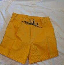 Vintage Birdwell Beach Yellow   Surf board shorts 31 Made in USA
