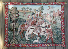 Goblys France Departing For The Hunt Wall Tapestry 33 x 44