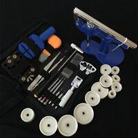 Watch Repair Tool Set Kit Opener Link Remover Spring Bar Hammer+Back Case Press