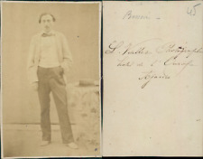 Viallet, photographe à Ajaccio, Besson CDV, vintage albumen carte de visite  C