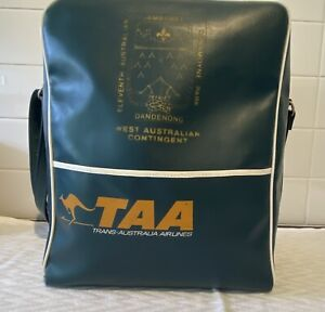 Vintage Scouts Dandenong Jamboree 1976-77 Trans Australia Airlines Travel Bag