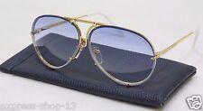 PORSCHE DESIGN P8478 Gold Blue Aviator Sunglasses New Never Been Worn