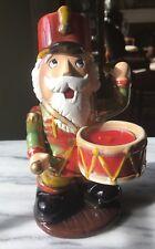 * New* Yankee Candle*  Christmas Nutcracker Drummer * Ceramic Tealight Holder
