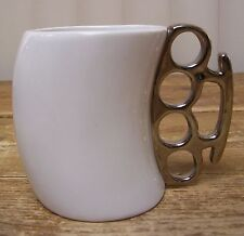 Brass Knuckles Coffee Mug Cup Figural Fred and Friends Knockout Karich