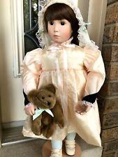 "Vtg beauty Jan Hagara 21"" Brooke 1991 Victorian porcelain doll"