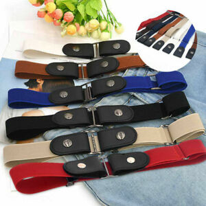 Belt Women Elastic No Bulge for Jeans Comfortable Invisible Buckle-free The NEW