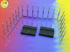 Stk. 2x Stecker / Plug mit Crimpkontakten 2.54mm 7 polig / way DUPONT #A1502