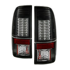 Pair Black LED Tail Lights Lamps G2 version Ford F 250 350 450  SuperDuty 08-16