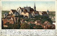 Meissen Meißen Sachsen 1902 Partie Schlossberg Dom Kirche AK n/ Rumburg gelauf.