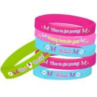 Minnie Mouse Rubber Bracelet Favors Goodies Party Decoration Supply  4ct