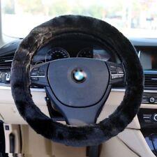 Black Soft Elastic Winter Warm Plush Steering Wheel Cover Auto Car Accessory US