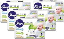 Sleepy Natural Diapers - 160 Count, Size 3 Plus Diapers, Child Weight 11-22 lbs